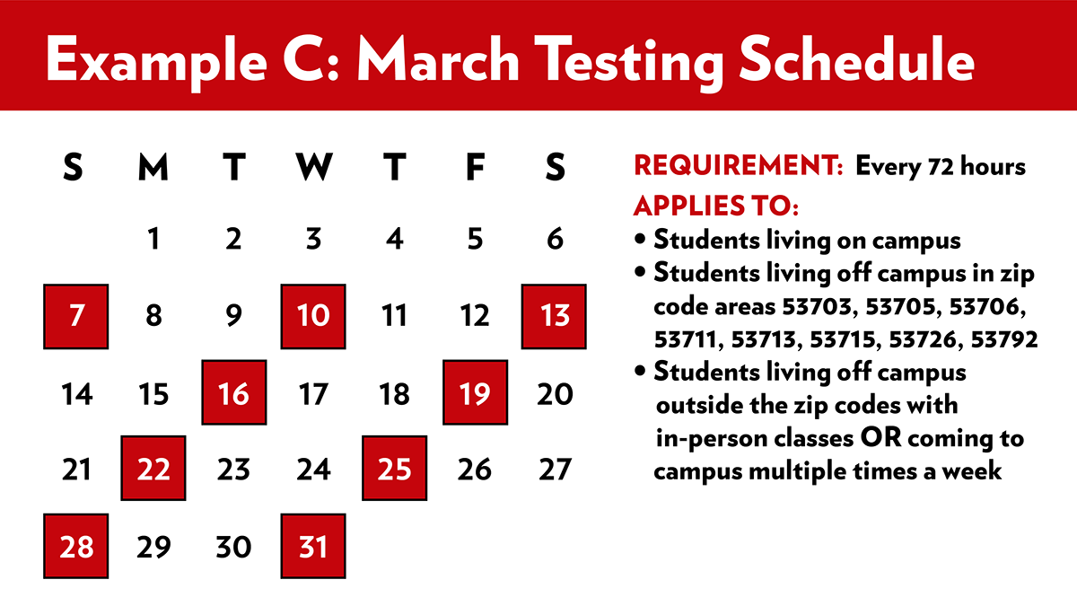 March Testing Schedule C